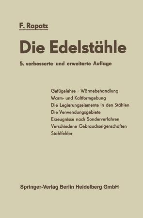 Die Edelstähle von Frehser,  J., Krainer,  H., Rapatz,  F.