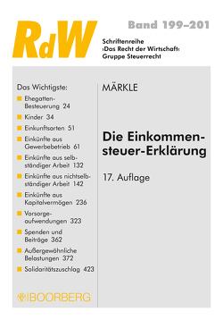Die Einkommensteuer-Erklärung von Märkle,  Rudi W