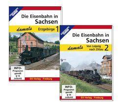 Die Eisenbahn in Sachsen damals – Teil 1 und Teil 2 im Paket