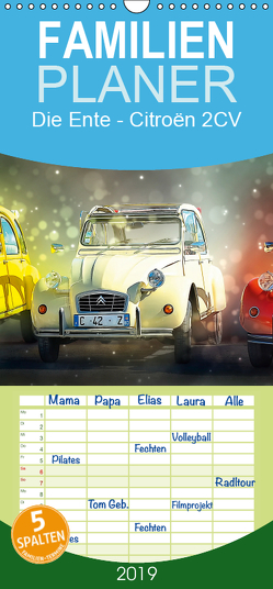 Die Ente – Citroën 2CV – Familienplaner hoch (Wandkalender 2019 , 21 cm x 45 cm, hoch) von Roder,  Peter