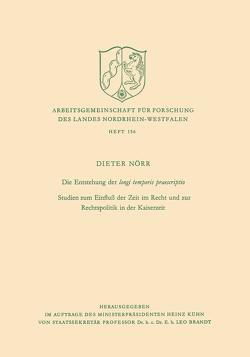 Die Entstehung der longi temporis praescriptio von Nörr,  Dieter