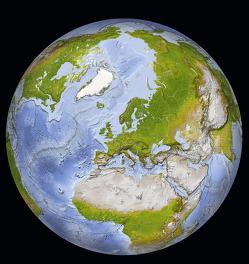 Weltkarte: Die Erde von Schmeling,  Michael