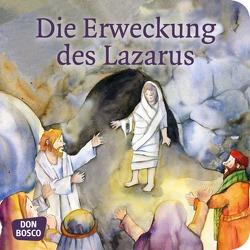 Die Erweckung des Lazarus. Mini-Bilderbuch. von Lefin,  Petra, Nommensen,  Klaus-Uwe