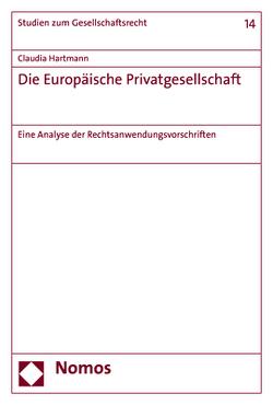 Die Europäische Privatgesellschaft von Hartmann,  Claudia