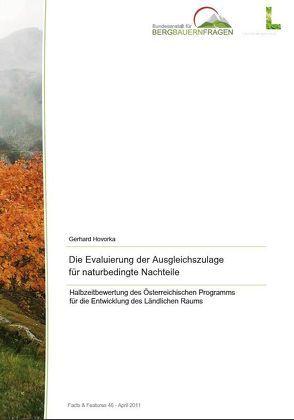 Die Evaluierung der Ausgleichszulage für naturbedingte Nachteile von Hovorka,  Gerhard