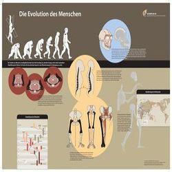 Die Evolution des Menschen – Poster von Gudo,  Michael, Syed,  Tareq