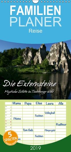 Die Externsteine – Familienplaner hoch (Wandkalender 2019 , 21 cm x 45 cm, hoch) von Berg,  Martina