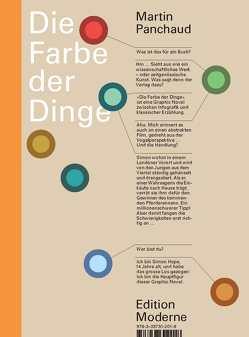 Die Farbe der Dinge von Panchaud,  Martin, Schuler,  Christoph