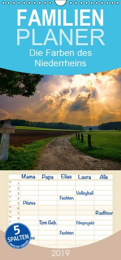 Die Farben des Niederrheins – Familienplaner hoch (Wandkalender 2019 , 21 cm x 45 cm, hoch) von Kierek,  Stefan