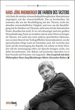 Die Farben des Tastens von Bulucz,  Alexandru, Isou,  Isidore, Kuhlbrodt,  Jan, Rheinberger,  Hans Jörg