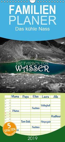 Die Farben von Wasser – Familienplaner hoch (Wandkalender 2019 , 21 cm x 45 cm, hoch) von Günter Zöhrer,  Dr.