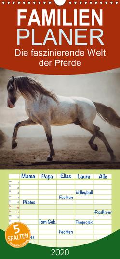 Die Faszinierende Welt der Pferde – Familienplaner hoch (Wandkalender 2020 , 21 cm x 45 cm, hoch) von Mischnik,  Sabrina