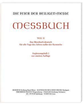 Die Feier der Heiligen Messe – Messbuch – Altarausgabe von Sprachgeb,  Ständige
