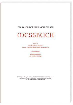 Die Feier der Heiligen Messe – Messbuch – Kleinausgabe von Sprachgeb,  Ständige