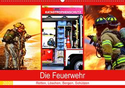 Die Feuerwehr 2020. Retten, Löschen, Bergen, Schützen (Wandkalender 2020 DIN A2 quer) von Lehmann (Hrsg.),  Steffani