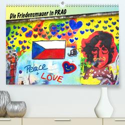 Die Friedensmauer in Prag (Premium, hochwertiger DIN A2 Wandkalender 2020, Kunstdruck in Hochglanz) von Hospes,  Danijela