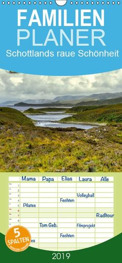 Die Füße im Gras und der Kopf in den Wolken: Schottlands raue Schönheit – Familienplaner hoch (Wandkalender 2019 , 21 cm x 45 cm, hoch) von Reiter,  Monika
