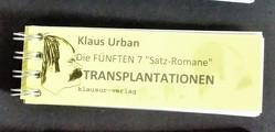 """Die FÜNFTEN 7 """"Satz-Romane"""" von Klaus Urban"""