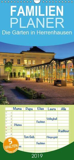 Die Gärten in Herrenhausen – Familienplaner hoch (Wandkalender 2019 <strong>21 cm x 45 cm</strong> hoch) von Hasche,  Joachim