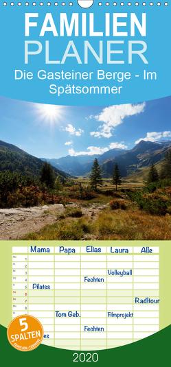 Die Gasteiner Berge – Im Spätsommer – Familienplaner hoch (Wandkalender 2020 , 21 cm x 45 cm, hoch) von Schade,  Teresa
