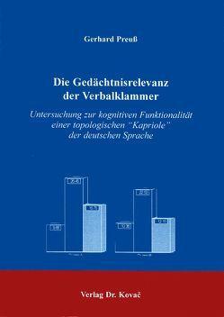 Die Gedächtnisrelevanz der Verbalklammer von Preuss,  Gerhard