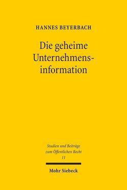Die geheime Unternehmensinformation von Beyerbach,  Hannes