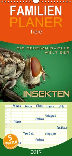 Die geheimnisvolle Welt der Insekten – Familienplaner hoch (Wandkalender 2019 , 21 cm x 45 cm, hoch) von Bleicher,  Renate