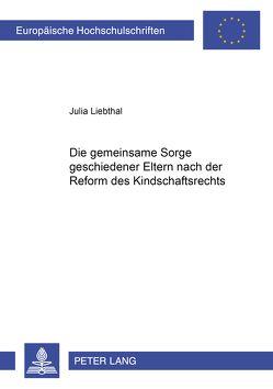 Die gemeinsame Sorge geschiedener Eltern nach der Reform des Kindschaftsrechts von Liebthal,  Julia