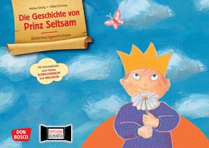 Die Geschichte von Prinz Seltsam. Wie gut, dass jeder anders ist! Kamishibai Bildkartenset mit Informationen zum Down-Syndrom von Hilgner,  Michaela, Schnee,  Silke, Sistig,  Heike
