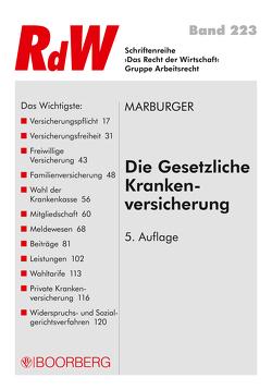 Die Gesetzliche Krankenversicherung von Marburger,  Klaus