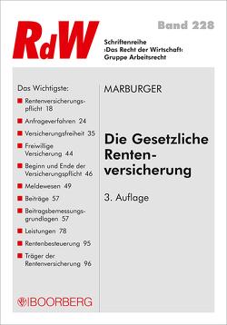 Die gesetzliche Rentenversicherung von Marburger,  Horst