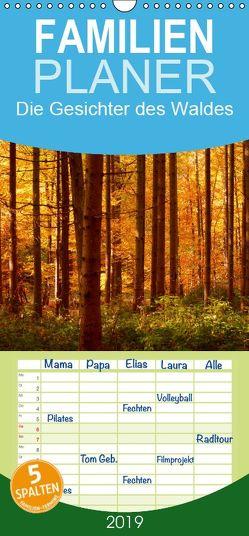 Die Gesichter des Waldes – Familienplaner hoch (Wandkalender 2019 , 21 cm x 45 cm, hoch) von kattobello