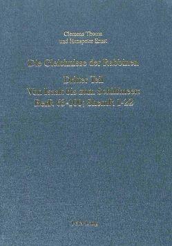 Die Gleichnisse der Rabbinen- Dritter Teil von Ernst,  Hanspeter, Thoma,  Clemens