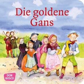 Die goldene Gans. Mini-Bilderbuch. von Grimm Brüder, Lefin,  Petra