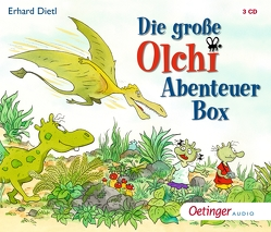 Die große Olchi-Abenteuer-Box (3 CDs) von Brosch,  Robin, Dietl,  Erhard, Frass,  Wolf, Kirchberger,  Stephanie, Michaelis,  Eva, Missler,  Robert, Schreier,  Nadine, Wendland,  Jens