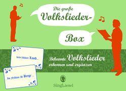 Die große Volkslieder-Quiz-Box für Senioren. Das Spiel rund um bekannte Volkslieder für Senioren. Auch mit Demenz. Spiele Box mit 100 Karten. von GmbH,  SingLiesel