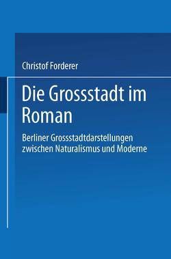 Die Großstadt im Roman von Forderer,  Christof