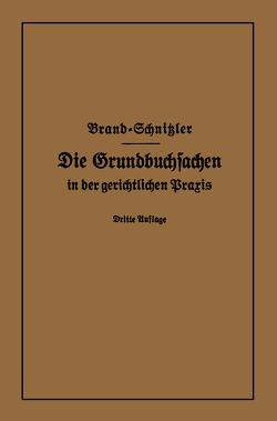 Die Grundbuchsachen in der gerichtlichen Praxis von Brand,  Arthur, Schnitzler,  Leo