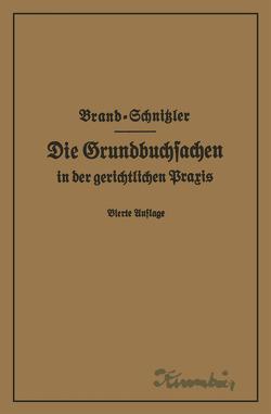 Die Grundbuchsachen in der gerichtlichen Praxis einschließlich Aufwertung der Grundstückspfandrechte von Brand,  Arthur, Schnitzler,  Leo
