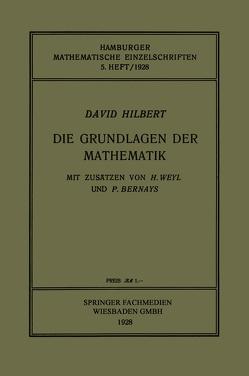 Die Grundlagen der Mathematik von Hilbert,  David