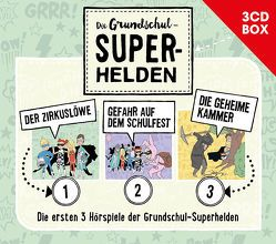 Die Grundschul-Superhelden – 3CD Hörspielbox Vol. 1 von Lamp,  Florian, Sumfleth,  Marco