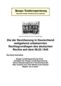 Die Haager Landkriegsordnung von Frühwald,  Peter