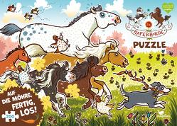 Die Haferhorde Puzzle – Auf die Möhre, fertig, los! von Dulleck,  Nina, Kolb,  Suza