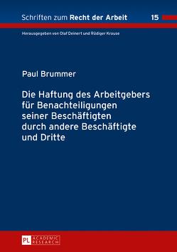 Die Haftung des Arbeitgebers für Benachteiligungen seiner Beschäftigten durch andere Beschäftigte und Dritte von Brummer,  Paul