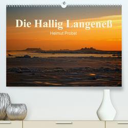Die Hallig Langeneß / CH-Version (Premium, hochwertiger DIN A2 Wandkalender 2021, Kunstdruck in Hochglanz) von Probst,  Helmut