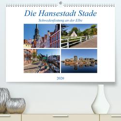 Die Hansestadt Stade – Schwedenfestung an der Elbe (Premium, hochwertiger DIN A2 Wandkalender 2020, Kunstdruck in Hochglanz) von Klinder,  Thomas
