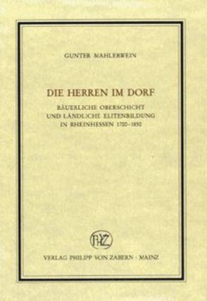 Die Herren im Dorf von Mahlerwein,  Gunter