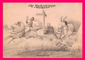 Die Hochzeitsreise – Eine Folge von 10  anonymen Radierungen um 1890 von Döpp,  Hans-Jürgen