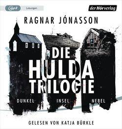 Die Hulda-Trilogie. Dunkel – Insel – Nebel von Bürkle,  Katja, Jaeger,  Andreas, Jónasson,  Ragnar, Lutze,  Kristian