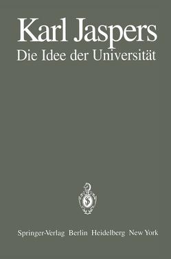 Die Idee der Universität von Jaspers,  K., Laufs,  A.